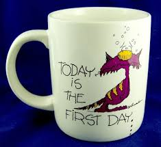 first day of miserable week collectable coffee mug cup cat job