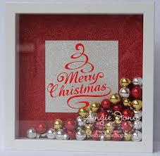 angie u0027s craft fusion merry christmas shadow box