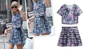 matching set matching set h m patterned organza blouse and skirt