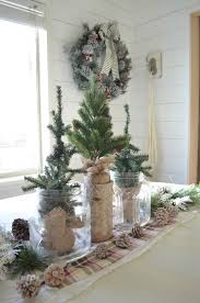 simple christmas farmhouse centerpiece