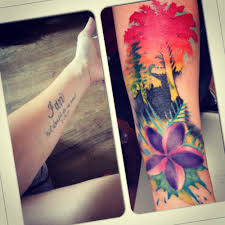 tropical sunset cover up u2013 bobby ink tattoos