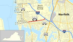 Map Of Norfolk Virginia by Virginia State Route 406 Wikipedia