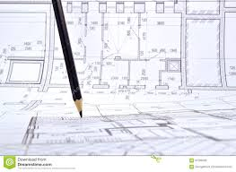 drawing a floor plan of the building stock photo image 67533528
