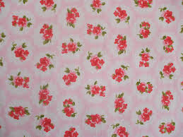 Fabric Shabby Chic by Rose Floral100 Cotton Fabric Shabby Chic Vintage Retro Per Metre