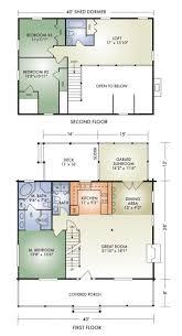 modern farmhouse cabin floor plan and elevation 1015sft plan 452 3
