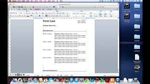 Best Free Resume Builder Mac by How To Write A Easy Resume In Word By Mac Youtube