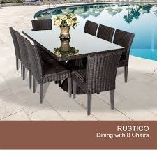 Wicker Outdoor Patio Furniture - outdoor dining table for 8 wicker patio table set