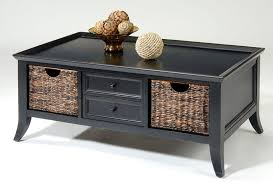 small rectangular end table black coffee table with storage baskets end tables hidden