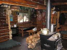 inside the lodge possibilities pinterest log cabins cabin log cabin with wood cookstove