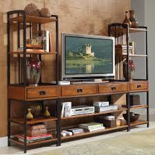 contemporary flat screen tv stands with teak shelves and unique