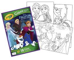amazon com crayola frozen giant coloring pages toys u0026 games