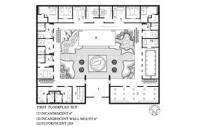 modern house plans courtyard pool