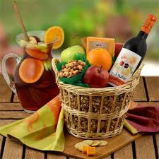 wine and cheese gifts sangria wine fruit cheese gift basket gift baskets