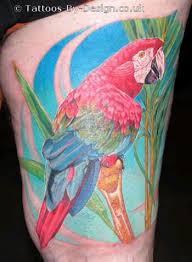 cyanogenchloride parrot tattoos