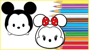 how to draw mickey minnie disney tsum tsum coloring pages learn
