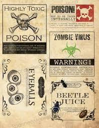 printable halloween specimen jar labels 202 best halloween labels and templates images on pinterest