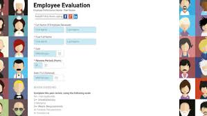 employee evaluation form templates human resources form templates