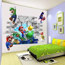 Home Decor Ebay by 3d Super Mario Bro Art Kids Room Decor Break Wall Sticker Wall