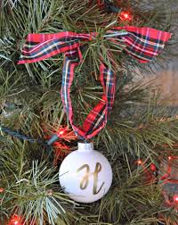 personalized christmas ornament monogram ornament 2017