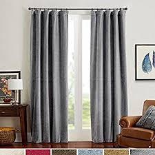 Curtains 95 Amazon Com Maytex Velvet Blackout Panel Curtain Black 40