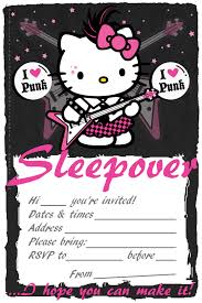 Hello Kitty Invitation Card Maker Free 50 Beautiful Slumber Party Invitations Kitty Baby Love