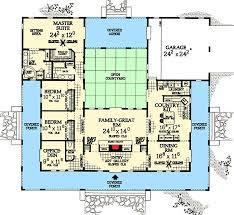 central courtyard dream home plan 81383w architectural designs
