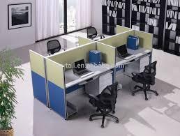 Office Workstation Desk 4 Seat Office Workstation Cubicle Modern Design Telemarketing