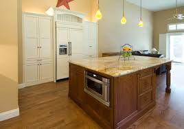 kitchen island with microwave drawer the end of a kitchen s island typically goes the 24