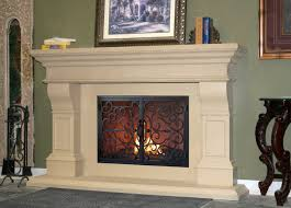 nice simple design of the fireplace architectural stone that has