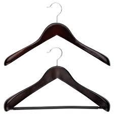 wooden hangers superior walnut wooden hangers the container store