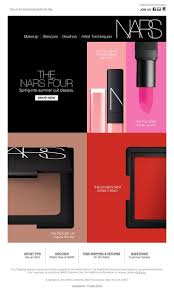 20 best promo emails beauty images on pinterest email design nars cult of classics