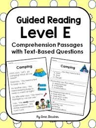 picture comprehension worksheets reading comprehension worksheets and passages for guided reading