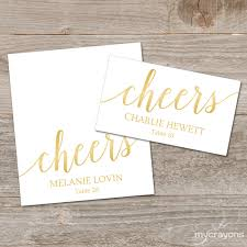 Table Place Cards by Gold Place Cards Printable Template Editable Place Cards
