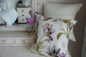 laura ashley handmade cushion in gosford plum fabric amazon co uk