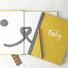 baby book baby journal and record book by illustries notonthehighstreet
