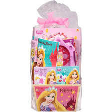 princess easter baskets disney princess rapunzel easter basket with toys candy walmart