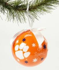 oxbay clemson tigers peppermint ornament set of three clemson