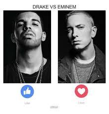 Eminem Drake Meme - drake vs eminem love like a trillax drake meme on me me
