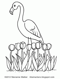 markers spring pink flamingo 238468 springtime coloring