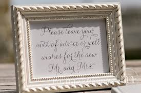 wedding wishes and advice advice well wishes table sign wedding reception seating