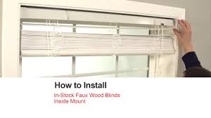 bali blinds how to install in stock faux wood blinds inside