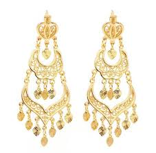 chandelier earrings museum company drop gold filigree chandelier earrings