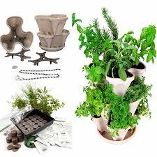 self watering indoor planters indoor medicinal herb garden starter kit self watering planter
