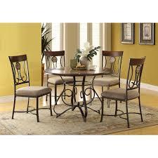 acme furniture kleef 5 piece round dining table set hayneedle