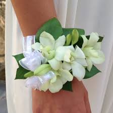 white orchid corsage white orchid pearl corsage in montchanin de petals flowers and