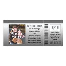 Movie Ticket Wedding Invitations Movie Ticket Wedding Invitations U0026 Announcements Zazzle