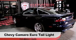 Chevrolet Camaro 1998 Spyder Auto Installation 1998 2002 Chevrolet Camaro Euro Tail