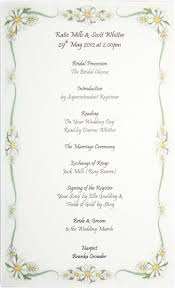 Civil Wedding Invitation Card Inspirations By Barb Order Of Service