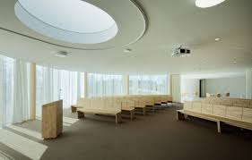 funeral home floor plan amiens crematorium welcomes mourners with soothing circular walls