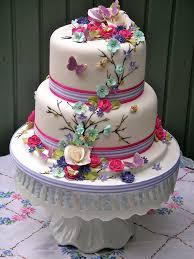 bright summer blooms wedding cake lynette horner flickr